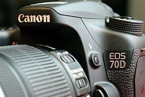 Canon EOS 70D: eccola dal vivo