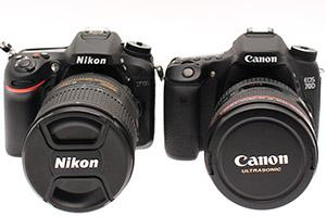 Canon EOS 70D e Nikon D7100: medie a confronto