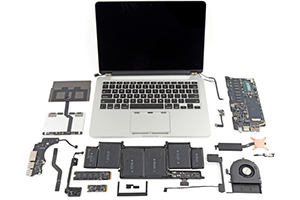 MacBook Pro con display Retina da 13 pollici: gli interni
