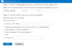 Outlook.com e Advanced Rules