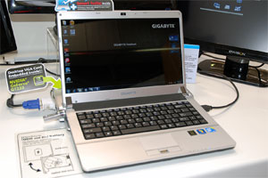 Notebook Gigabyte @ CeBit 2010