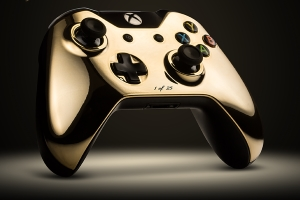 Gamepad in oro 24 carati