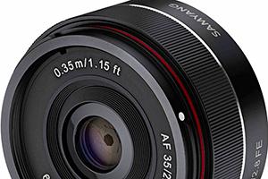 Samyang AF 35mm F2.8 FE: nuovo fisso per Sony A7 e famiglia