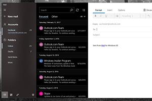 Microsoft Mail e Calendar in Fluent Design
