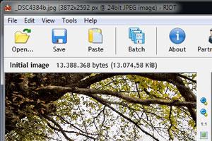 RIOT per ottimizzare rapidamente immagini