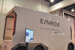 E/NRIDE: il furgone a guida autonoma powered by Nvidia