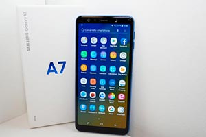 Samsung Galaxy A7 (2018): l'interfaccia grafica
