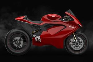 Una supersportiva elettrica Ducati? in rete alcuni rendering ne ipotizzano le forme