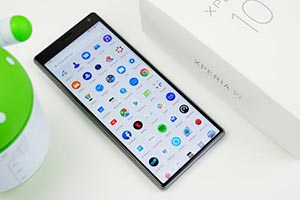 Sony Xperia 10: l'interfaccia grafica