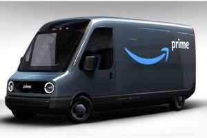 Prime immagini dei furgoni elettrici di Amazon