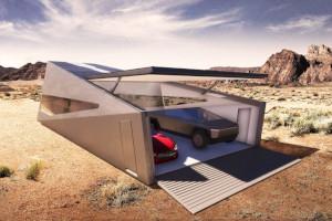 Cybunker il garage monoscocca pensato per ospitare il Tesla Cybertruck e non solo
