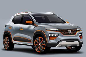 Dacia Spring elettrica, ecco i rendering