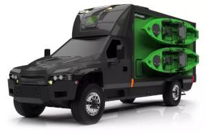 Zeus Electric Chassis e SylvanSport mostrano la loro idea di camper elettrico fuoristrada