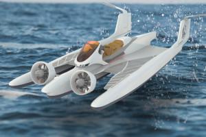 Aquas-Bike, una moto d'acqua ad effetto suolo