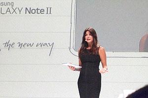 Samsung Galaxy Note II: presentazione a Milano con Ilaria D'Amico