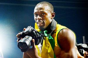 Usain Bolt 'fotografo' d'eccezione a Londra 2012